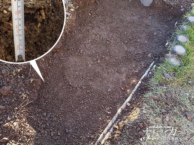 10cm掘る