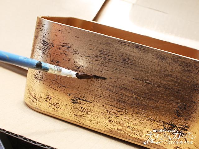 筆で木目描き