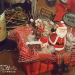 100円ショップの材料で作る、かごの中のメリークリスマス