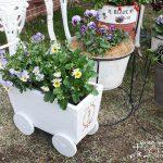 花を入れて庭に飾ろう!四輪荷車の木製プランターの作り方