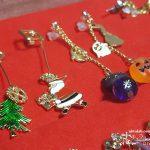セリアの材料で簡単に作る、オリジナルのクリスマスピアス