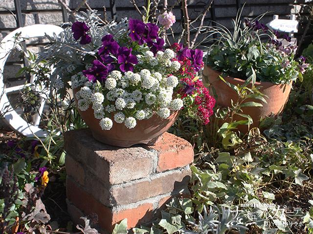 レンガの花台DIY