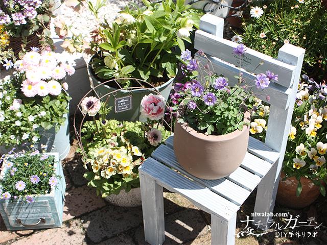 椅子型花台DIY