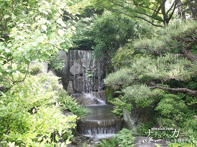 滝から流れにつづく庭