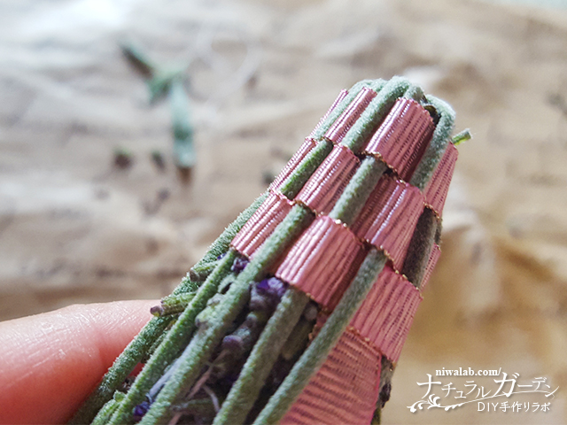 3段リボンを編む