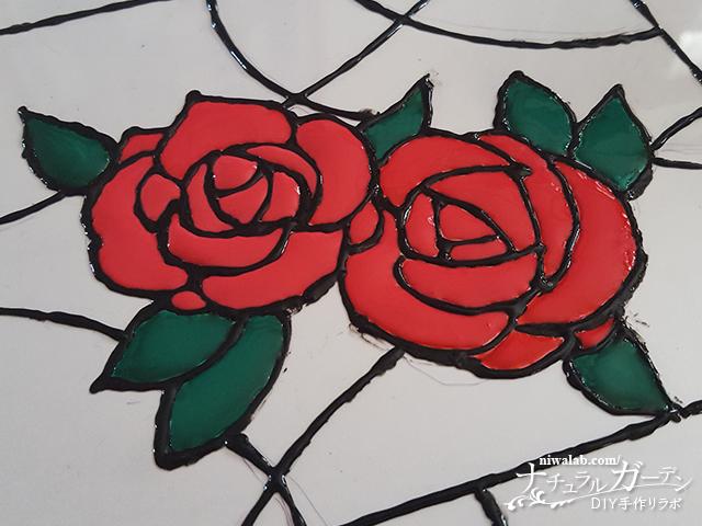 花の色塗り