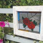 ダイソーのガラス絵の具でガーデン用ステンドグラスを作りました【1】
