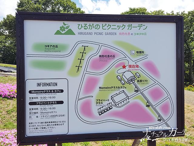 ひるがのピクニックガーデン地図