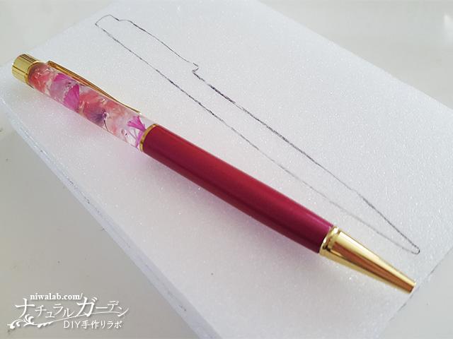 ペンをかたどる