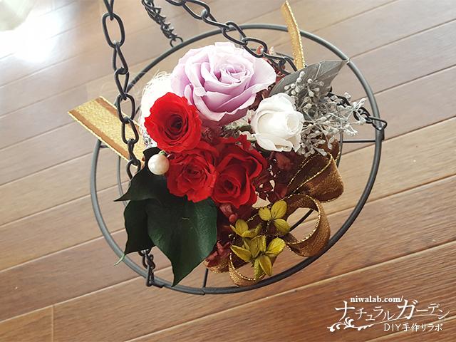 花を乗せて飾る