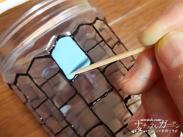 ガラス絵の具色塗り