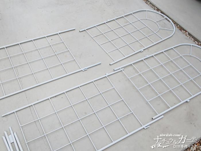 組み立て前フェンス