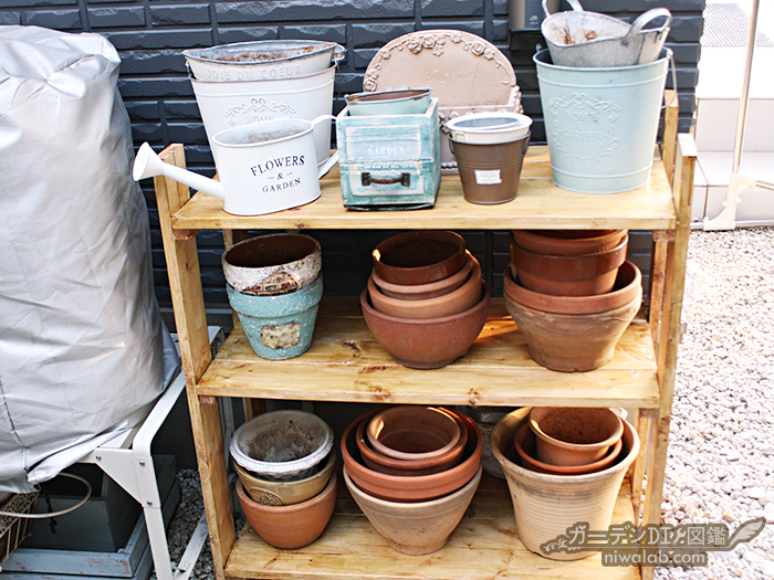 植木鉢収納