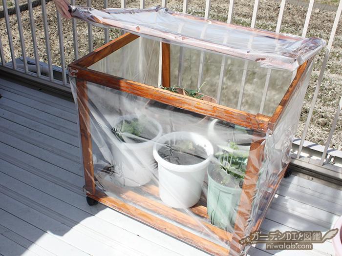 木製温室DIY
