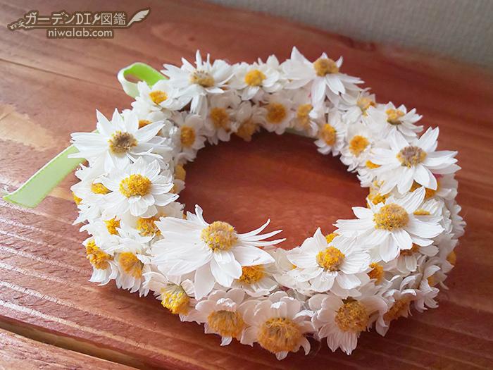 花かんざしリースDIY