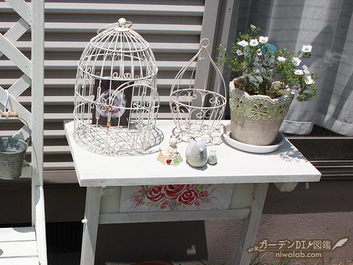 ガーデンテーブル塗装