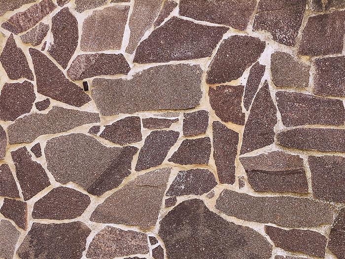 石張りの庭