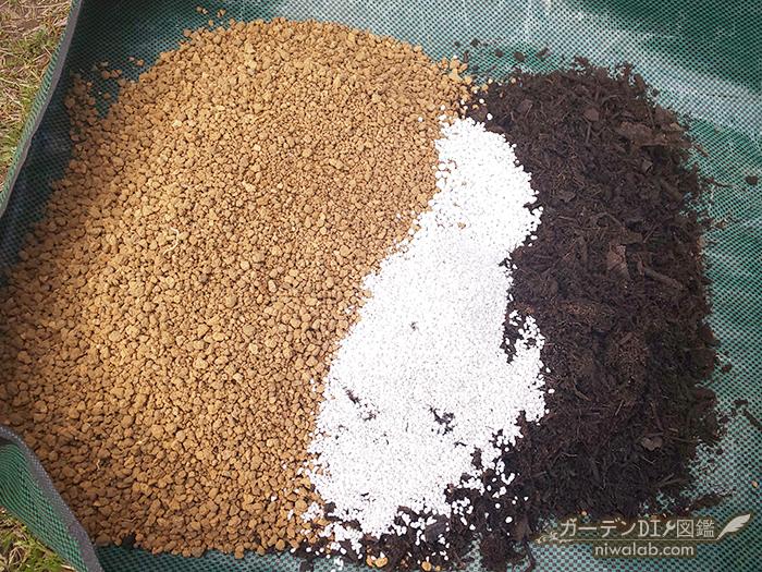 ゼラニウム土作り